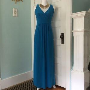 LAUREN Ralph Lauren Blue Maxi Dress, Size 4